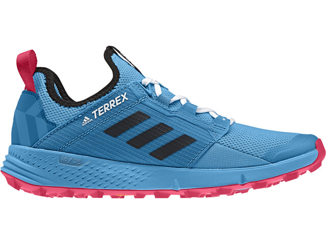 adidas TERREX Agravic Speed+ Shoes Women shock cyan/core black/active pink